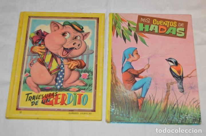 Libros de segunda mano: LOTE 6 EJEMPLARES - MIS CUENTOS DE HADAS / ALEGRES ANIMALES - AÑOS 60 - EVA - VINTAGE - ENVÍO 24H - Foto 4 - 148082670