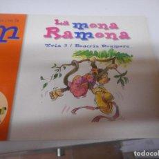 Libros de segunda mano: LA MONA RAMONA , JUEGA CON LA M -COLECCION EL ZOO DE LAS LETRAS 2004. Lote 148090386