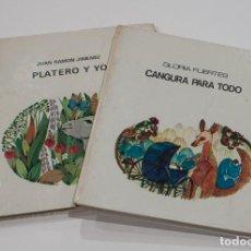 Libros de segunda mano: PLATERO Y YO DE JUAN RAMON JIMENEZ Y CANGURA PARA TODO DE GLORIA FUERTES. EDITORIAL LUMEN.. Lote 150347610