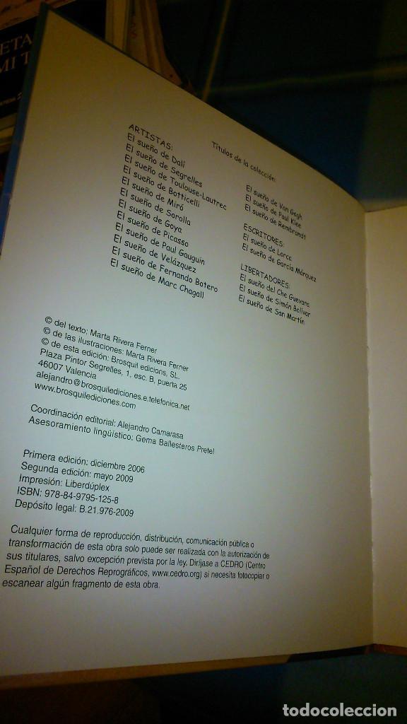 Libros de segunda mano: El sueño de Sorolla. Marta Rivera Ferner. Ed Brosquil. - Foto 6 - 151972862