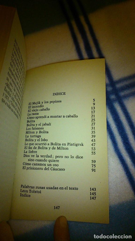 Libros de segunda mano: Cuentos para niños. León Tolstoi. 1982. La Gaya de Ciencia. 147 pág. - Foto 7 - 151983894