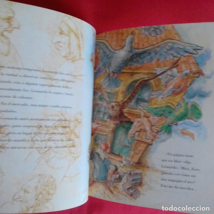 Libros de segunda mano: LEONARDO Y EL APRENDIZ VOLADOR. UN CUENTO SOBRE DA VINCI. LAURENCE ANHOLT. EDIC SERRES 2000 - Foto 4 - 151998122
