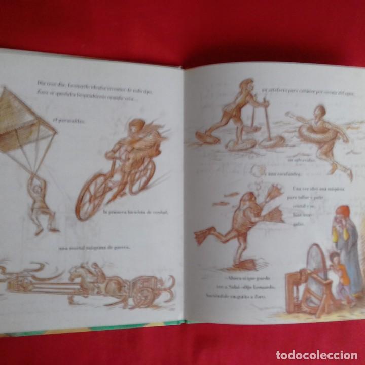 Libros de segunda mano: LEONARDO Y EL APRENDIZ VOLADOR. UN CUENTO SOBRE DA VINCI. LAURENCE ANHOLT. EDIC SERRES 2000 - Foto 5 - 151998122