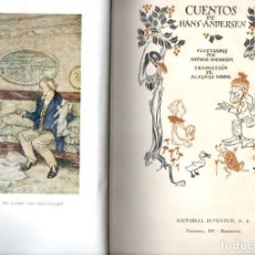 Libros de segunda mano: CUENTOS DE ANDERSEN ILUSTRADOS POR ARTHUR RACKHAM (JUVENTUD, 1962). Lote 152264688