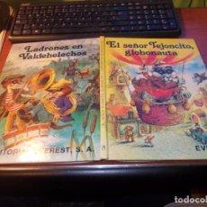 Libros de segunda mano: EL SEÑOR TEJONCILLO GLOBONAUTA. LADRONES EN VALDEHELECHOS. JOHN PATIENCE. EVEREST 3ª ED 1985, DEFECT. Lote 152464906