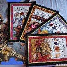 Libros de segunda mano: LOTE PACK COMPLETO (4 CUENTOS) GRAN ANTOLOGÍA DE CUENTOS DE HADAS; DE GRAN TAMAÑO. Lote 153129138