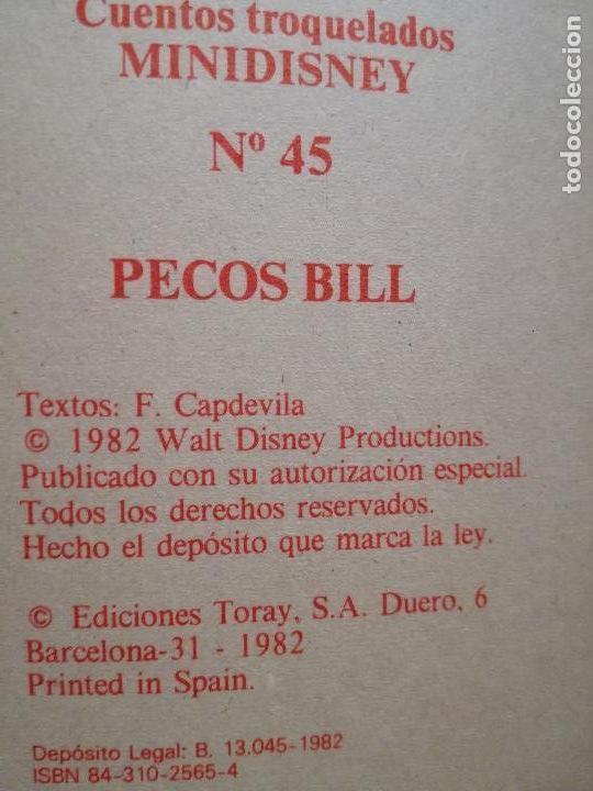 Libros de segunda mano: 2 CUENTO TROQUELADO PECOS BILL-LA BALLENA CANTORA MINI DISNEY Nº 45-48 TORAY F.CAPDEVILA1984 nuevo - Foto 2 - 154233006