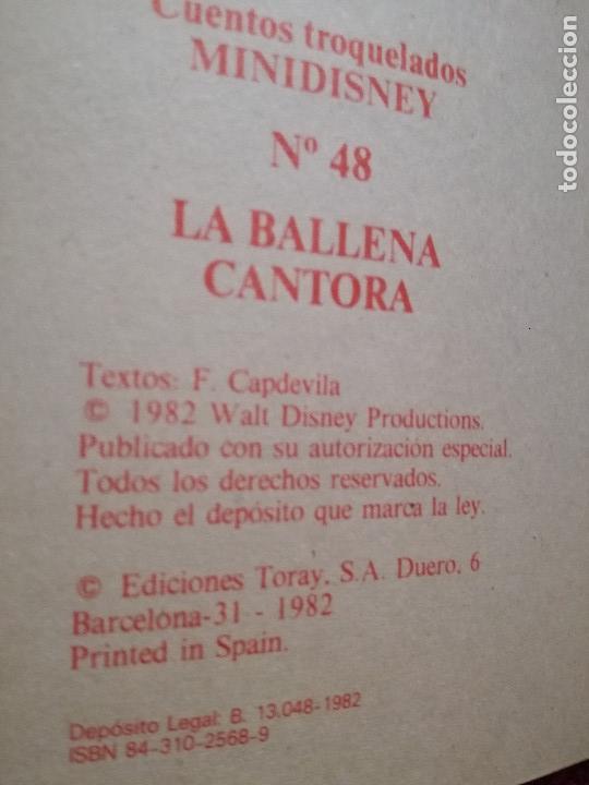 Libros de segunda mano: 2 CUENTO TROQUELADO PECOS BILL-LA BALLENA CANTORA MINI DISNEY Nº 45-48 TORAY F.CAPDEVILA1984 nuevo - Foto 4 - 154233006
