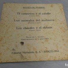 Libros de segunda mano: NOCHES DE INVIERNO . EDITORIAL MONTAÑOLA EL CAMPESINO Y EL CABALLO . LOS ANIMALES DEL MOLINERO .... Lote 155077298
