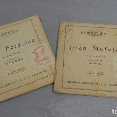 Libros de segunda mano: LOT 2 LLIBRES JOAN FERESTEC I JOAN MOFETA . PERIPECIES EDITORIAL . SEGONA EDICIÓ . . Lote 155081794