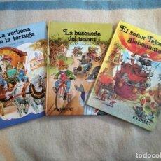 Libros de segunda mano: JOHN PATIENCE: EL SEÑOR TEJONCITO GLOBONAUTA, LA BÚSQUEDA DEL TESORO Y LA VERBENA DE LA TORTUGA. Lote 155515510