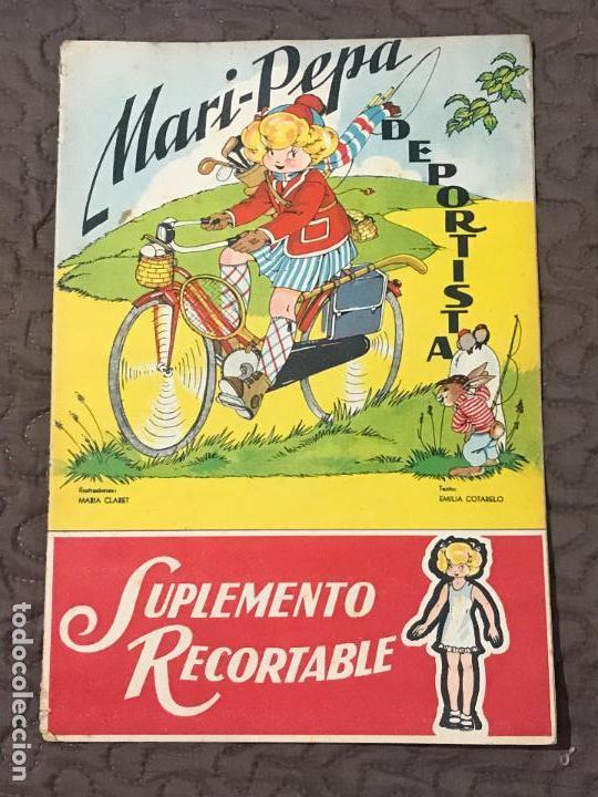 MARI-PEPA DEPORTISTA - MARIA CLARET & EMILIA COTARELO - CON RECORTABLE - COMPLETO (Libros de Segunda Mano - Literatura Infantil y Juvenil - Cuentos)