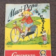 Libros de segunda mano: MARI-PEPA DEPORTISTA - MARIA CLARET & EMILIA COTARELO - CON RECORTABLE - COMPLETO. Lote 156277046
