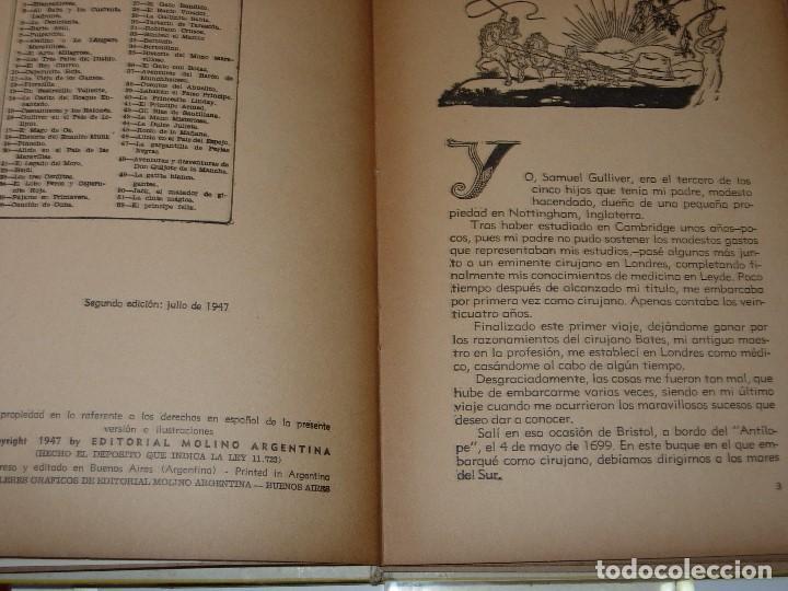 Libros de segunda mano: GULLIVER EN EL PAIS DE LILIPUT / MIS PRIMEROS CUENTOS MOLINO - Foto 5 - 156586694