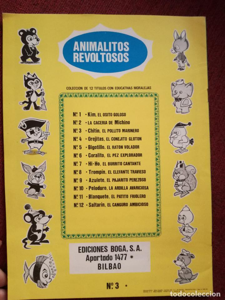 Libros de segunda mano: CUENTO ANIMALITOS REVOLTOSOS BOGA Nº 3 CHITIN EL POLLITO MARINERO 1972 MORALEJA - Foto 3 - 157657478