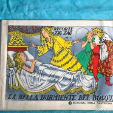 Libros de segunda mano: LIBRO, CUENTO, LA BELLA DURMIENTE DEL BOSQUE, EDITORIAL ROMA, Nº 4, RECORTE ZIG ZAG. Lote 157824830