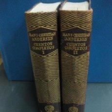 Libros de segunda mano: HANS CHRISTIAN ANDERSEN. CUENTOS COMPLETOS 2 TOMOS. AGUILAR 1957.. Lote 158301254