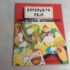 Libros de segunda mano: CAPERUCITA ROJA LIBRO PUZZLE AUTOADHESIVO. Lote 158706246