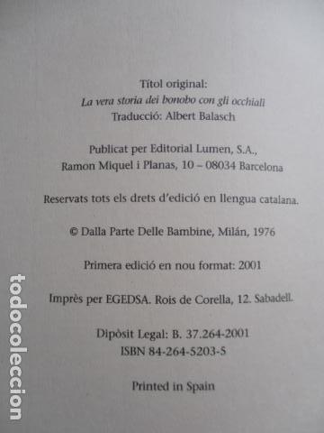 Libros de segunda mano: historia de los bonobos con gafas - adela turin - ilustraciones nella bosnia - 1ª ed. MUY BUEN ESTAD - Foto 8 - 263109290