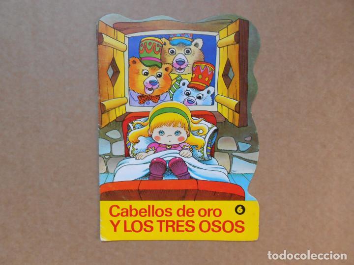 CUENTO TROQUELADO CABELLOS DE ORO Y LOS TRES OSOS - EDITORIAL BRUGUERA DIN DAN - 1979 (Libros de Segunda Mano - Literatura Infantil y Juvenil - Cuentos)