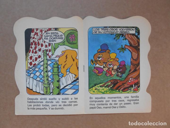 Libros de segunda mano: CUENTO TROQUELADO CABELLOS DE ORO Y LOS TRES OSOS - EDITORIAL BRUGUERA DIN DAN - 1979 - Foto 2 - 158818990