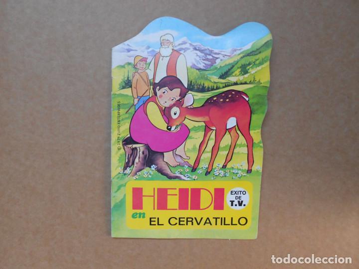CUENTO TROQUELADO HEIDI EL CERVATILLO - EDITORIAL BRUGUERA - 1975 (Libros de Segunda Mano - Literatura Infantil y Juvenil - Cuentos)