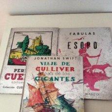 Libros de segunda mano: LOTE DE 3 EDITORIAL MAUCCI FÁBULAS DE ESOPO CUENTOS PERRAULT VIAJE DE GULIIVER AL PAÍS DE LOS GIGANT. Lote 160516742
