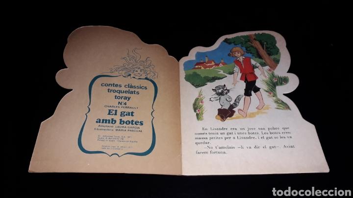 Libros de segunda mano: *El Gat amb Botes* Cuento troquelado en *CATALÁN*, María Pascual, Toray, Barcelona, año 1977. - Foto 2 - 160558162