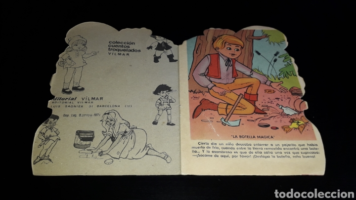 Libros de segunda mano: *La Botella Mágica* Cuento troquelado, Andreu Montull, Ed. Vilmar, Barcelona, año 1972. - Foto 2 - 160568670