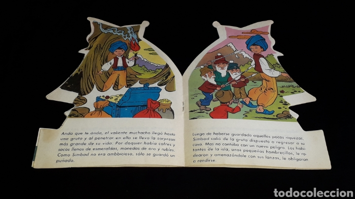 Libros de segunda mano: *Simbad el Marino* Cuento troquelado, Ed. Producciones Editoriales, Barcelona, año 1978. - Foto 4 - 160569798