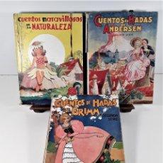 Libros de segunda mano: EDITORIAL MOLINO. 3 EJEMPLARES. VARIOS AUTORES. BARCELONA. 1942/43.. Lote 165066950