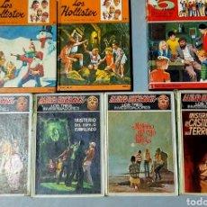 Libros de segunda mano: LOTE LIBROS ALFRED HITCHCOCK HOLLISTER AVENTURAS CUENTOS. Lote 165785372