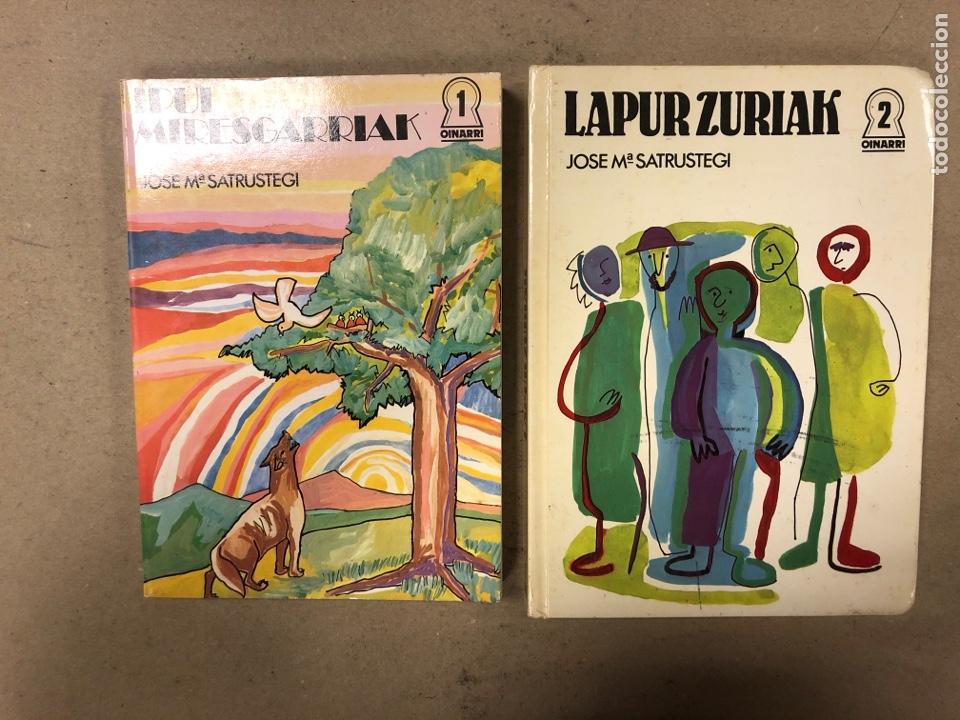 IPUI MIRESGARRIAK ETA LAPUR ZURIAK. 2 TOMOS. JOSE Mª SATRUSTEGI. IRUDIAK: XABIER EGAÑA (Libros de Segunda Mano - Literatura Infantil y Juvenil - Cuentos)