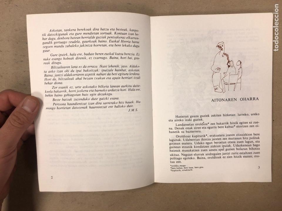 Libros de segunda mano: IPUI MIRESGARRIAK ETA LAPUR ZURIAK. 2 TOMOS. JOSE Mª SATRUSTEGI. IRUDIAK: XABIER EGAÑA - Foto 4 - 168215740