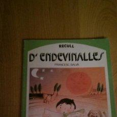 Libros de segunda mano: RECULL D'ENDEVINALLES. EDITORIAL SALVATELLA. Lote 168730156
