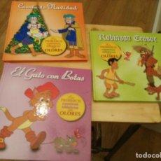 Libros de segunda mano: LOS PRIMEROS CUENTOS CLASICOS CON OLORES - CUENTO DE NAVIDAD,ROBINSON CRUSOE, EL GATO CON BOTAS. Lote 168873604