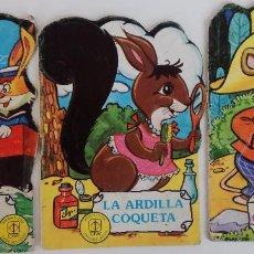 Libros de segunda mano: ANIMALITOS TROQUELADOS TORAY Nº 2, 17, 20 - EL BARCO FELIZ, EL GUITARRISTA Y LA ARDILLA COQUETA. Lote 169391616