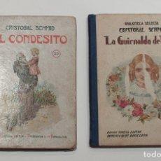 Libros de segunda mano: EL CONDESITO Y LA GUIRNALDA DE FLORES. CRISTOBAL SCHMID. BIBLIOTECA SELECTA. RAMON SOPENA EDITOR.. Lote 170110448