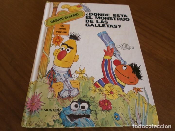 CUENTO POP-UP ¿ DÓNDE ESTÁ EL MONSTRUO DE LAS GALLETAS ? - COLECCIÓN BARRIO SÉSAMO - ED. MONTENA. (Libros de Segunda Mano - Literatura Infantil y Juvenil - Cuentos)