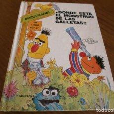 Libros de segunda mano: CUENTO POP-UP ¿ DÓNDE ESTÁ EL MONSTRUO DE LAS GALLETAS ? - COLECCIÓN BARRIO SÉSAMO - ED. MONTENA.. Lote 171702855