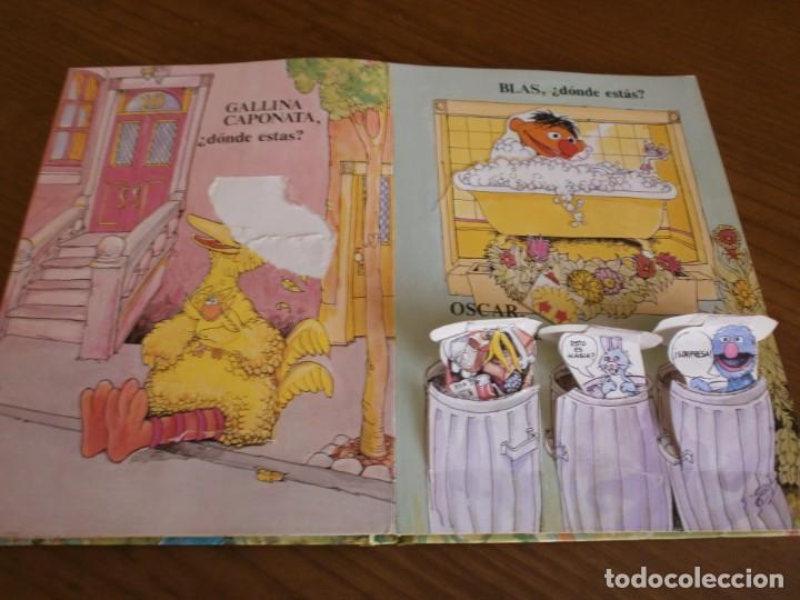Libros de segunda mano: CUENTO POP-UP ¿ DÓNDE ESTÁ EL MONSTRUO DE LAS GALLETAS ? - COLECCIÓN BARRIO SÉSAMO - ED. MONTENA. - Foto 5 - 171702855