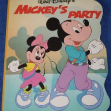 Libros de segunda mano: MICKEY'S PARTY - WALT DISNEY - TWIN BOOKS (1989). Lote 172312443