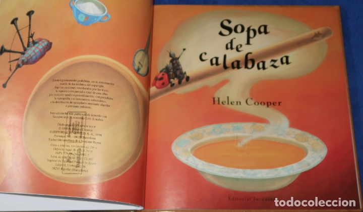 Libros de segunda mano: Sopa de calabaza - Helen Cooper - Editorial Juventud (2019) - Foto 3 - 172364427