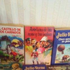 Libros de segunda mano: LOTE DE 5 CUENTOS DE JULIO VERNR Y 1 DE EMILIO SALGARI AÑOS 60-70-80. Lote 175032440