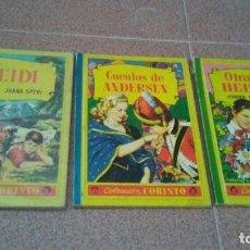 Libros de segunda mano: 3 CUENTOS HEIDI. COLECCIÓN CORINTO. 1959.. Lote 176006323
