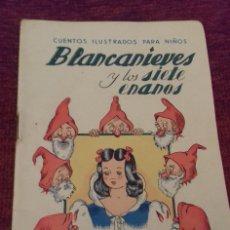 Libros de segunda mano: BLANCANIEVES Y LOS SIETE ENANOS. CUENTOS ILUSTRADOS PARA NIÑOS. ED. RAMÓN SOPENA, BARCELONA. . Lote 176387783