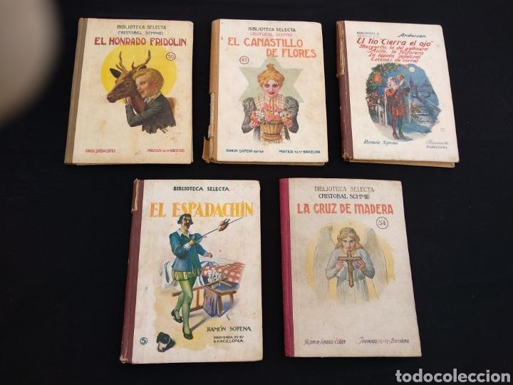 LOTE 5 LIBROS BIBLIOTECA SELECTA AÑOS 30/40 (Libros de Segunda Mano - Literatura Infantil y Juvenil - Cuentos)