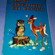 Libros de segunda mano: LOS ALEGRES ANIMALES Nº 7 TIM EL CERVATILLO DEL BOSQUE EDITORIAL LA GRAN ENCICLOPEDIA VASCA AÑO 1969. Lote 179172892