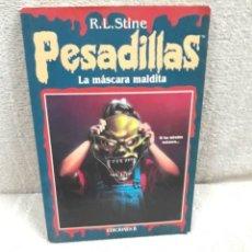 Libros de segunda mano: R.L. STINE: PESADILLAS 12 - LA MÁSCARA MALDITA. Lote 179545410