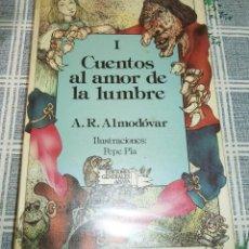 Libros de segunda mano: CUENTOS AL AMOR DE LA LUMBRE I ALMODOVAR ILUSTRA PEPE PLA ED. ANAYA 1985 COL. LAURIN. Lote 180285467